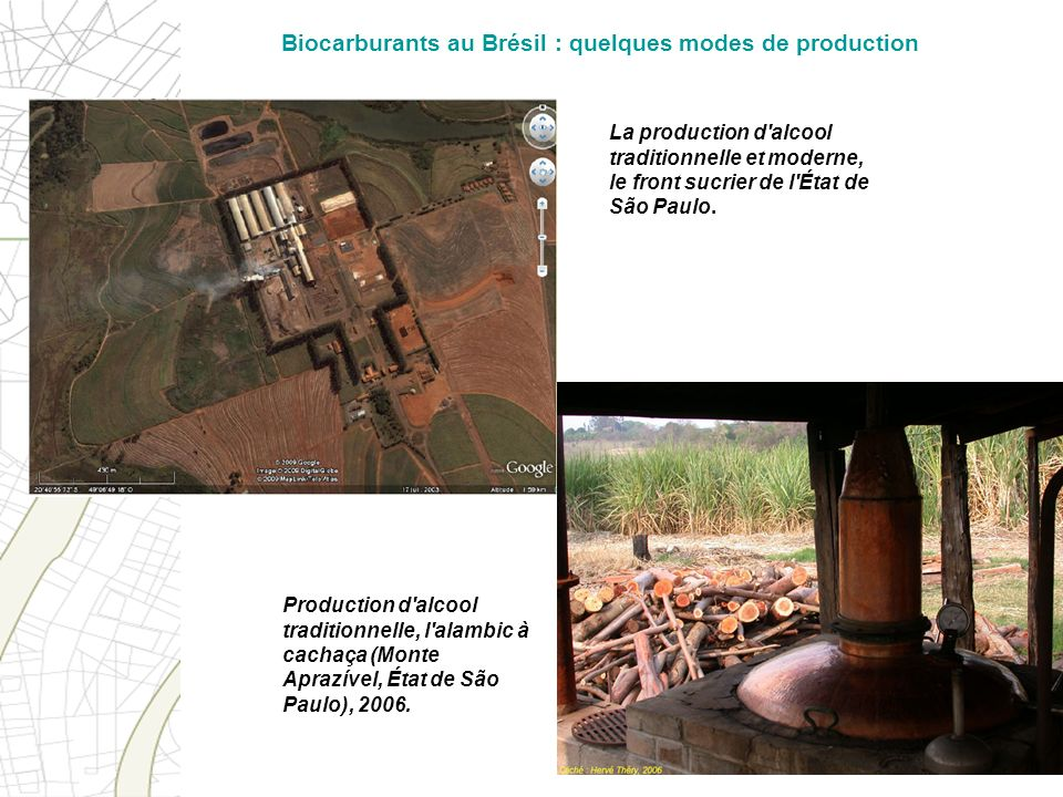 Biocarburants au Brésil : quelques modes de production