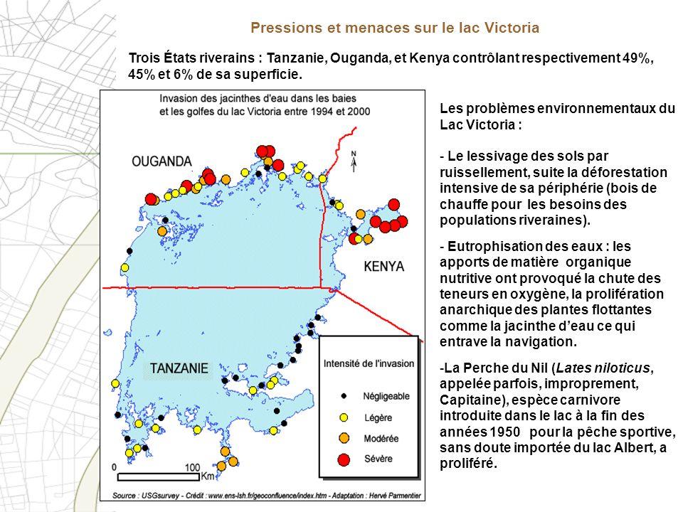 Pressions et menaces sur le lac Victoria