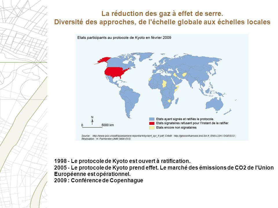 La réduction des gaz à effet de serre