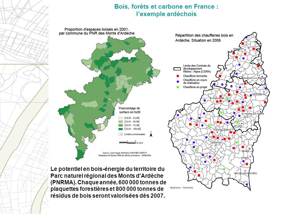 Bois, forêts et carbone en France : l'exemple ardéchois