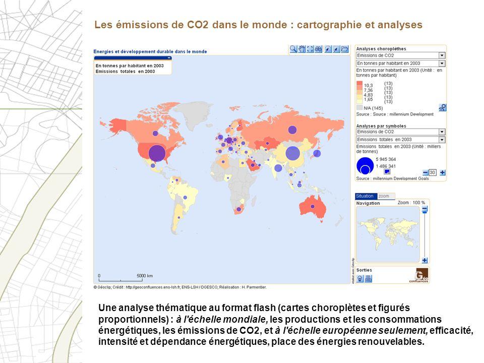 Les émissions de CO2 dans le monde : cartographie et analyses