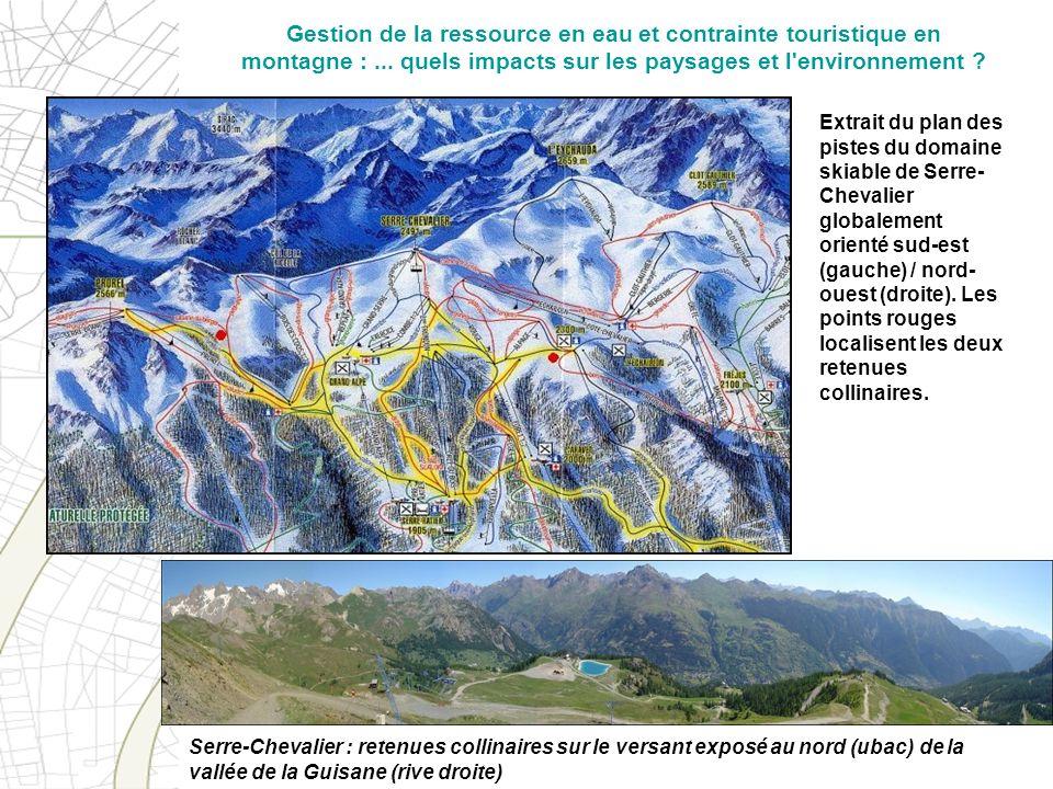 Gestion de la ressource en eau et contrainte touristique en montagne :
