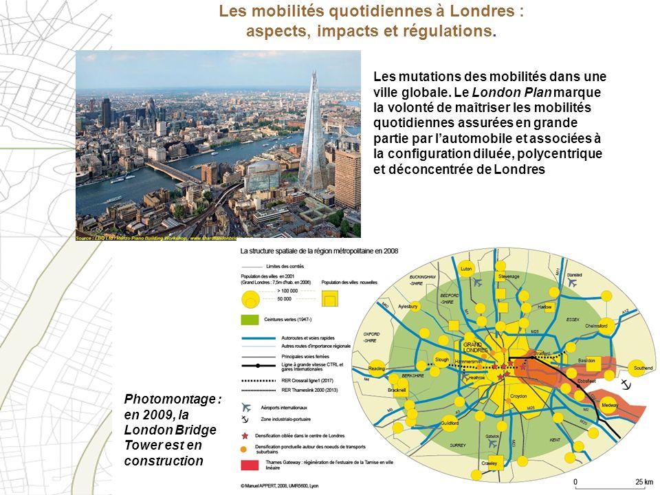 Les mobilités quotidiennes à Londres : aspects, impacts et régulations.