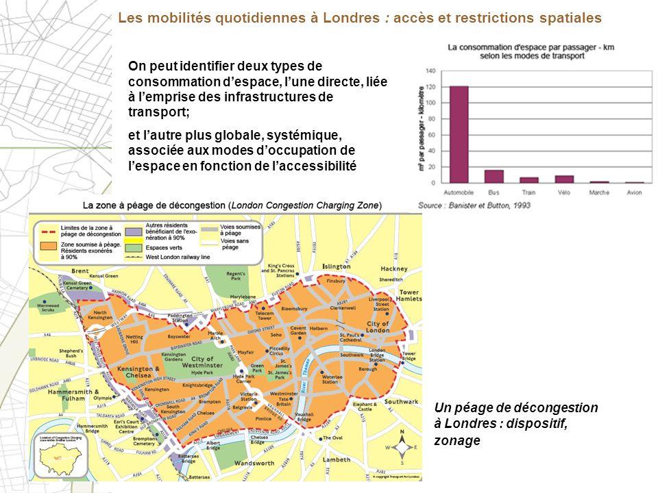 Les mobilités quotidiennes à Londres : accès et restrictions spatiales