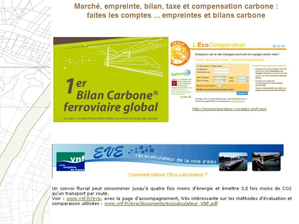 Marché, empreinte, bilan, taxe et compensation carbone : faites les comptes ...