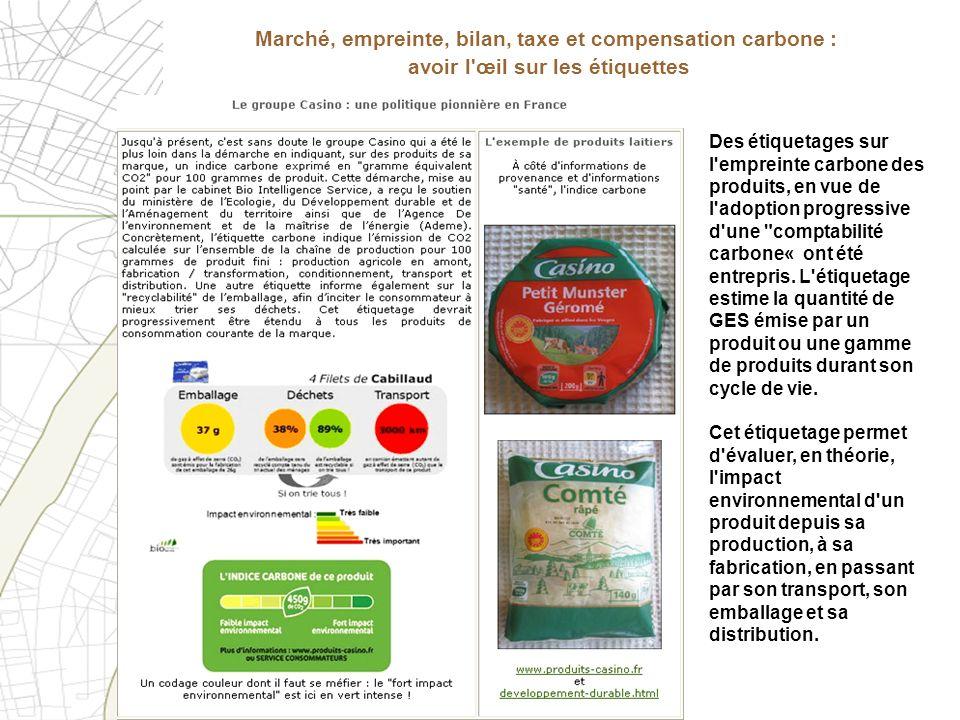 Marché, empreinte, bilan, taxe et compensation carbone : avoir l œil sur les étiquettes