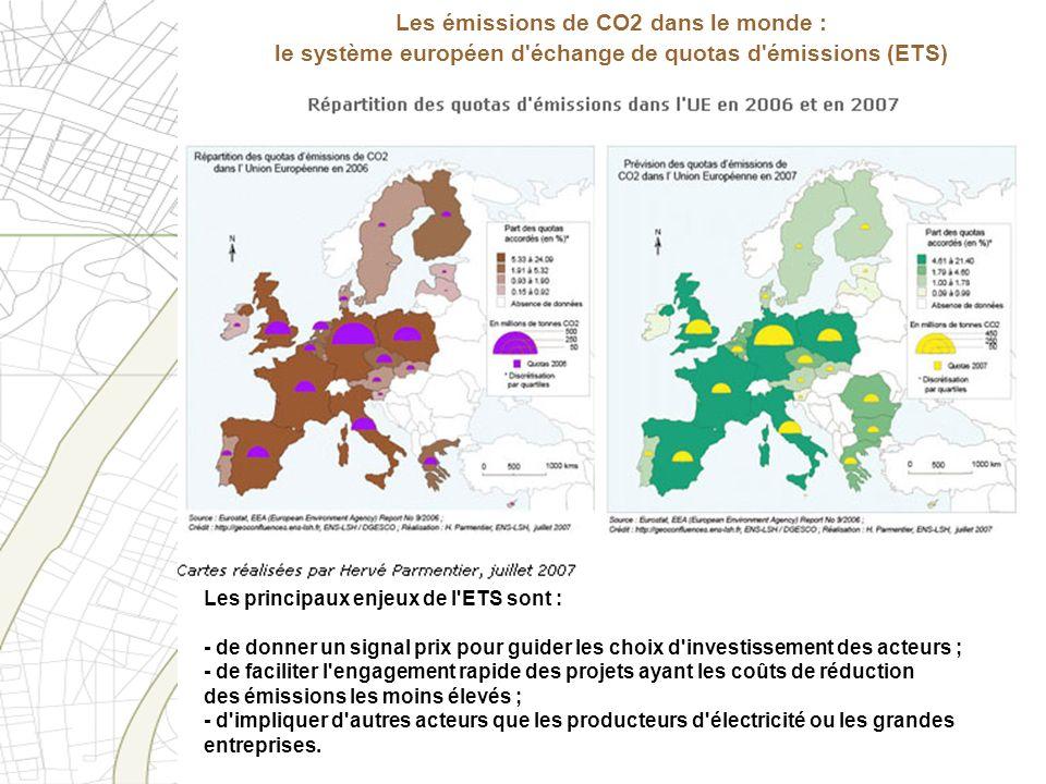 Les émissions de CO2 dans le monde : le système européen d échange de quotas d émissions (ETS)