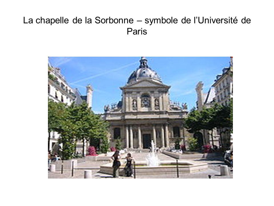 La chapelle de la Sorbonne – symbole de l'Université de Paris