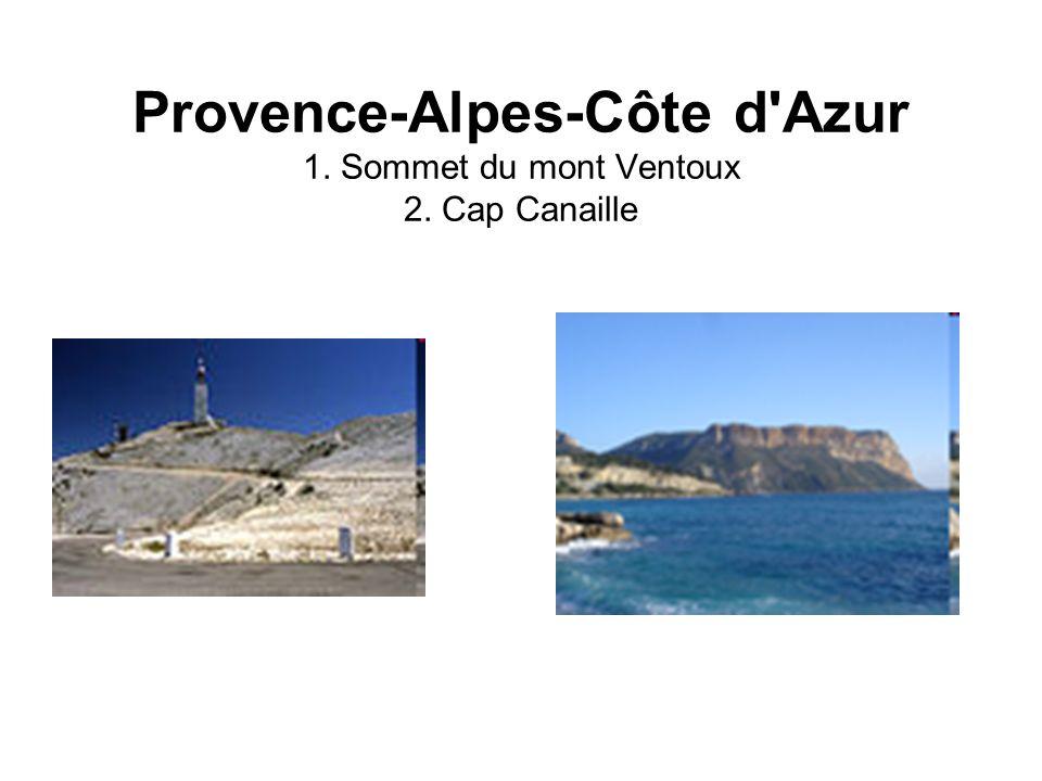 Provence-Alpes-Côte d Azur 1. Sommet du mont Ventoux 2. Cap Canaille