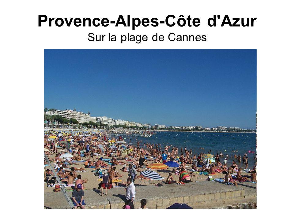 Provence-Alpes-Côte d Azur Sur la plage de Cannes