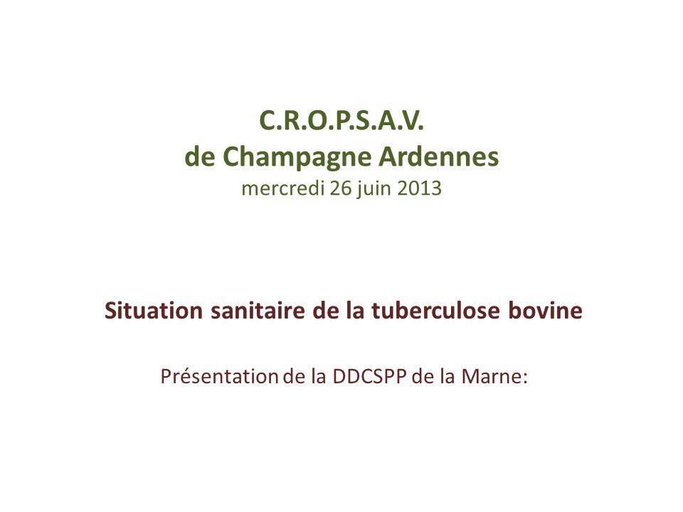 C.R.O.P.S.A.V. de Champagne Ardennes mercredi 26 juin 2013