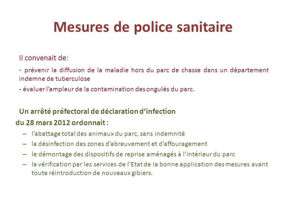 Mesures de police sanitaire