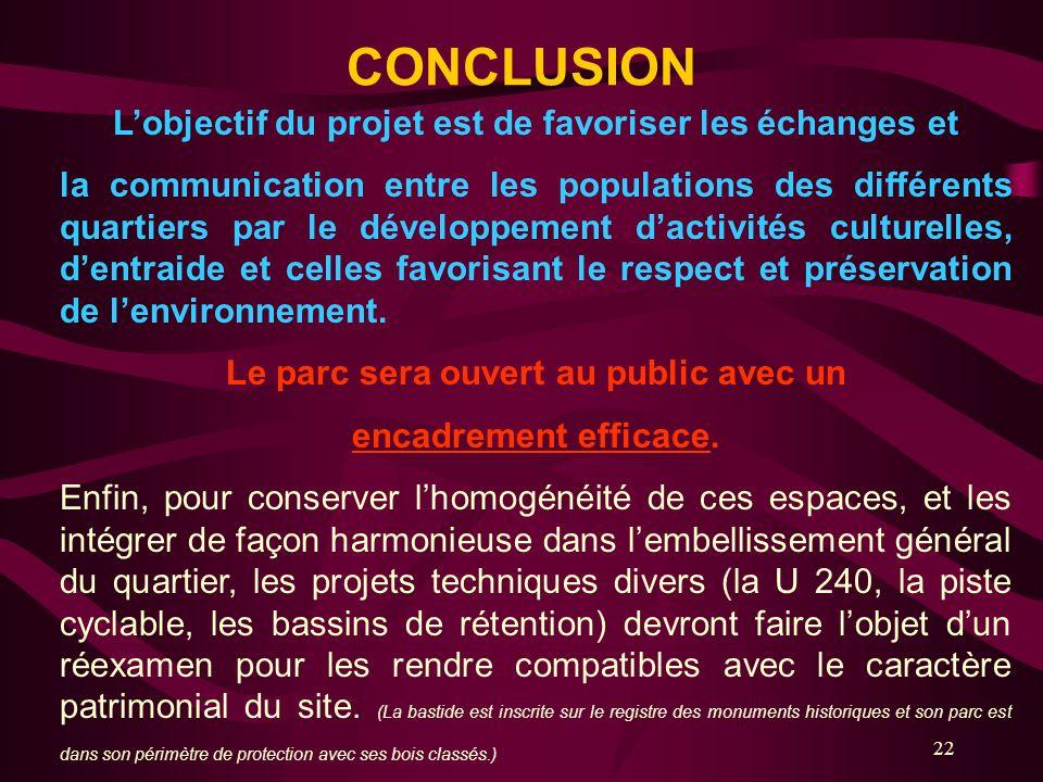 CONCLUSION L'objectif du projet est de favoriser les échanges et