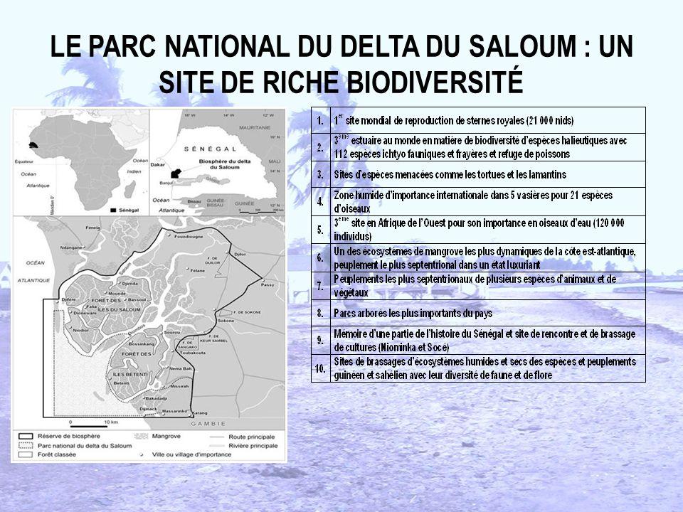 LE PARC NATIONAL DU DELTA DU SALOUM : UN SITE DE RICHE BIODIVERSITÉ