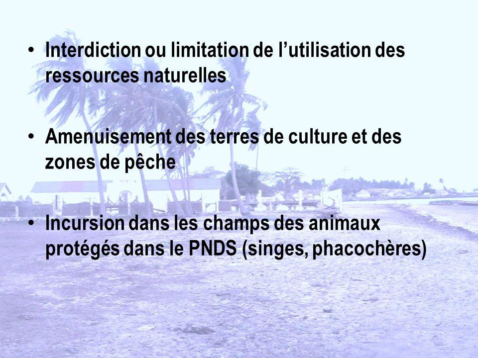Interdiction ou limitation de l'utilisation des ressources naturelles