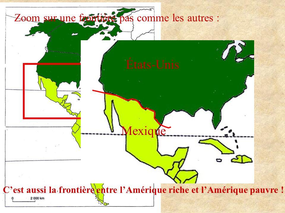 États-Unis Mexique Zoom sur une frontière pas comme les autres :