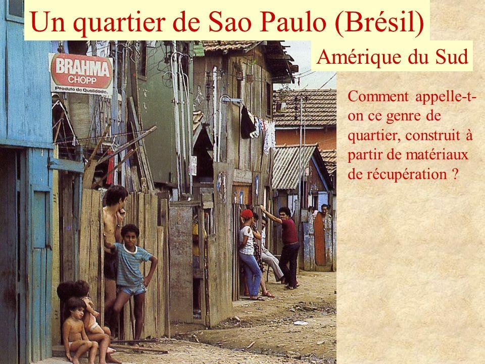 Un quartier de Sao Paulo (Brésil)