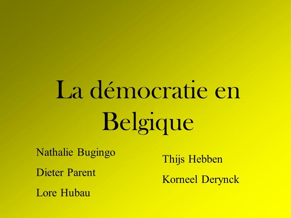 La démocratie en Belgique