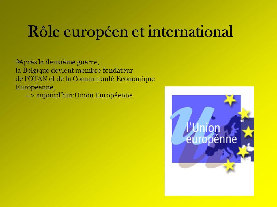Rôle européen et international