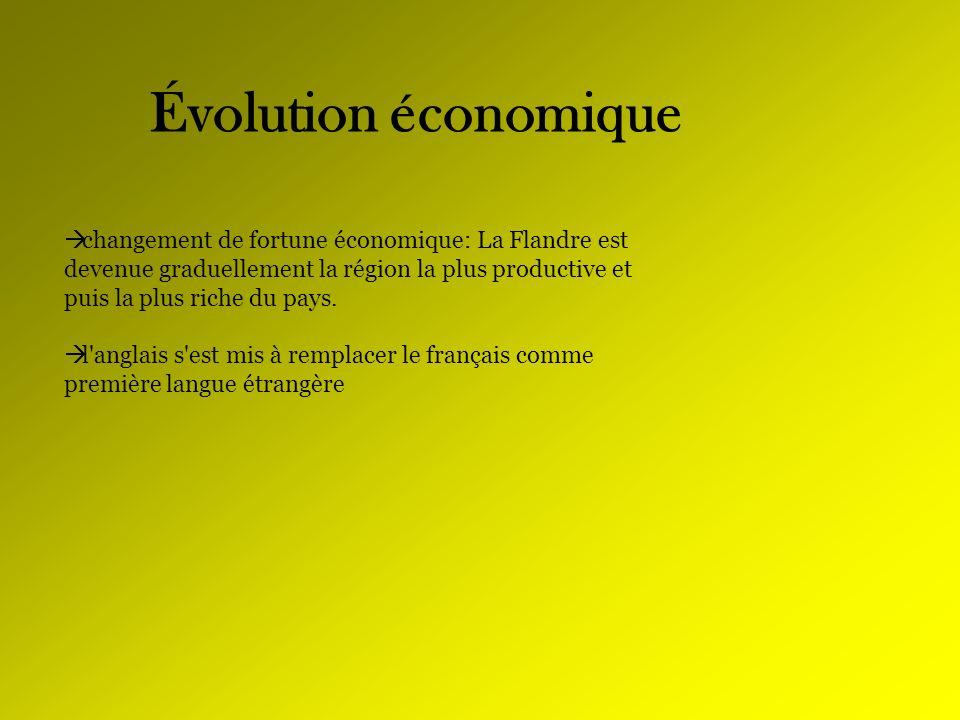 Évolution économique changement de fortune économique: La Flandre est