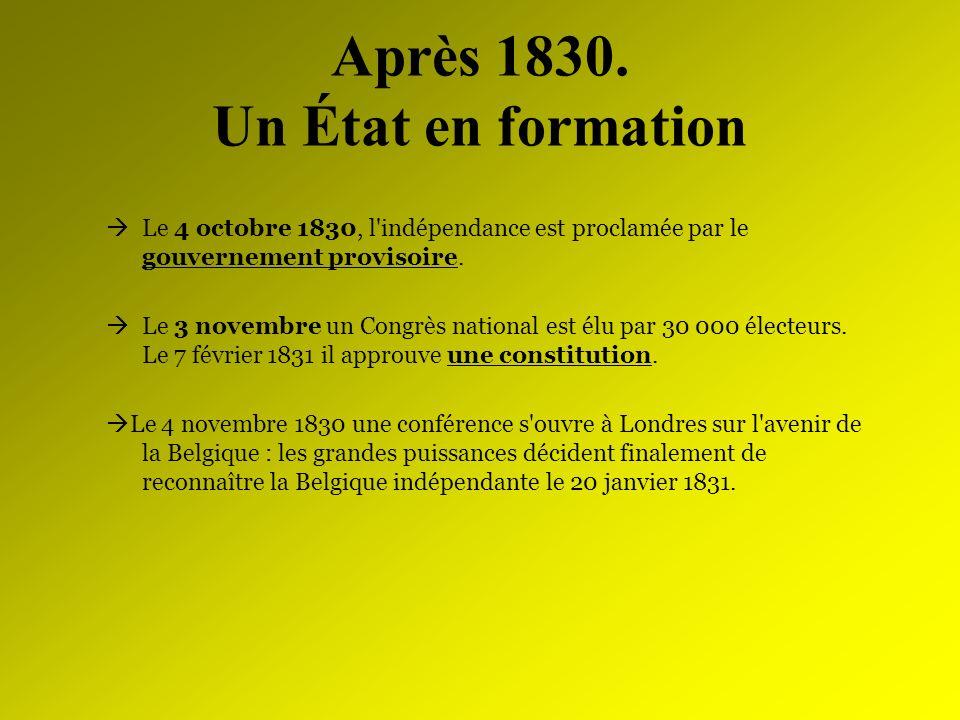 Après 1830. Un État en formation