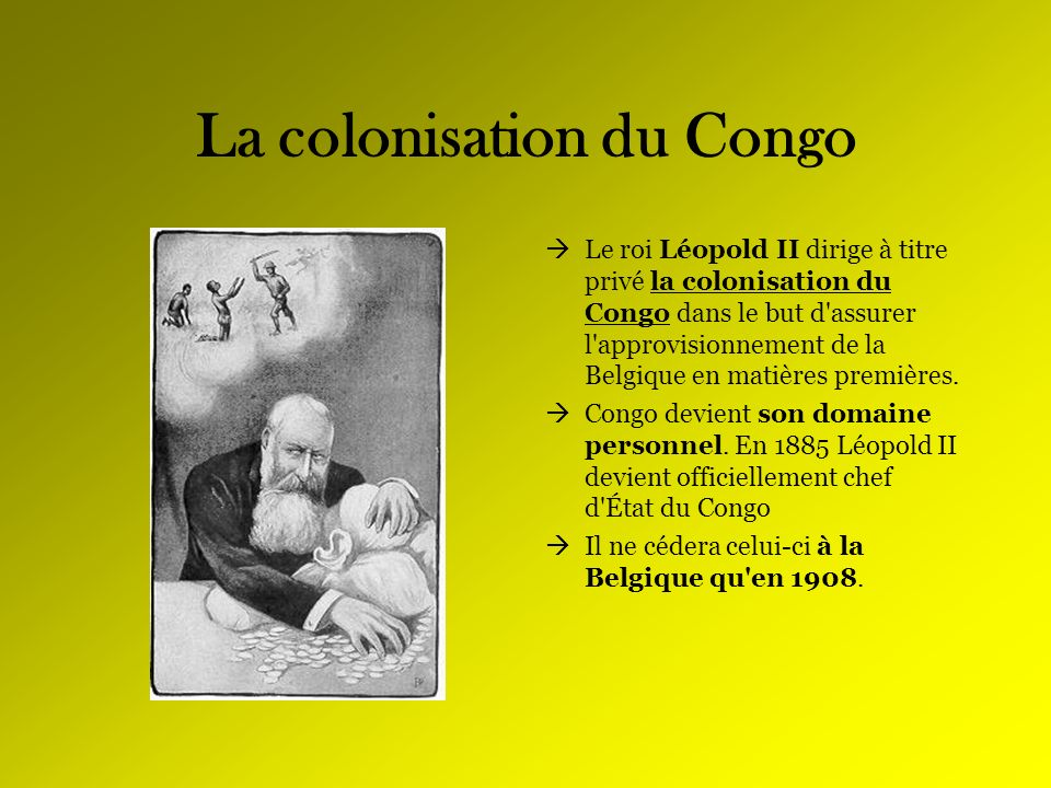 La colonisation du Congo