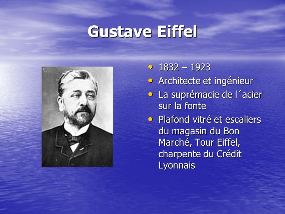 Gustave Eiffel 1832 – 1923 Architecte et ingénieur
