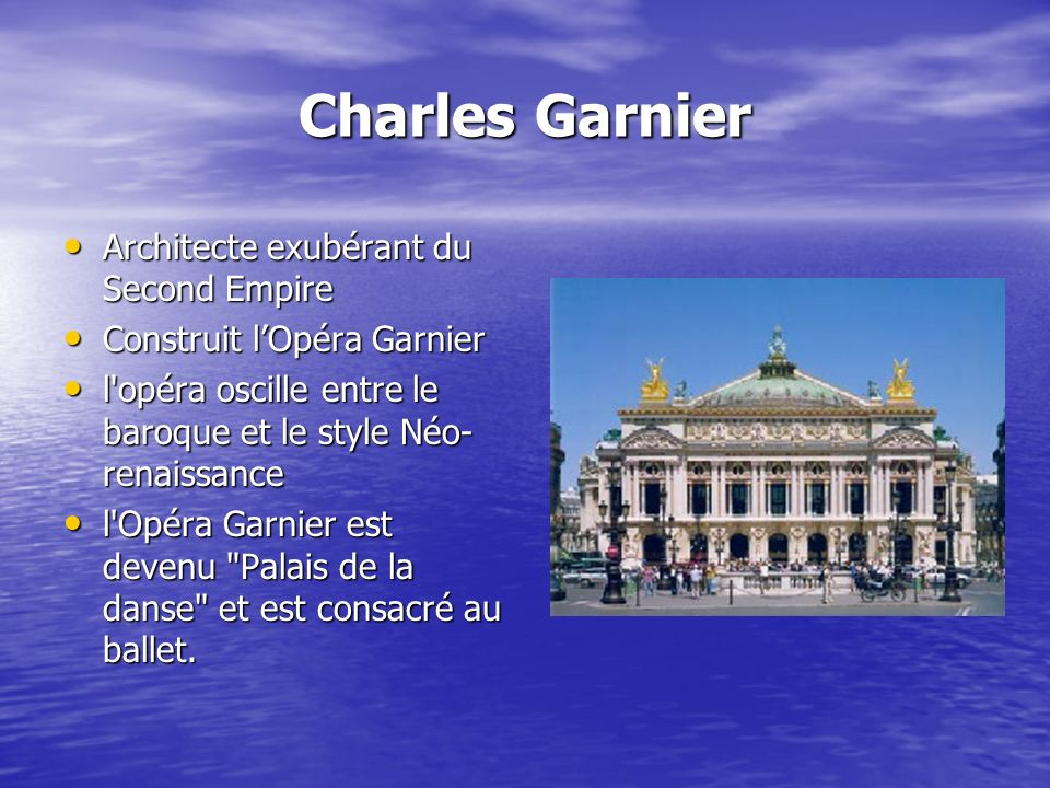 Charles Garnier Architecte exubérant du Second Empire