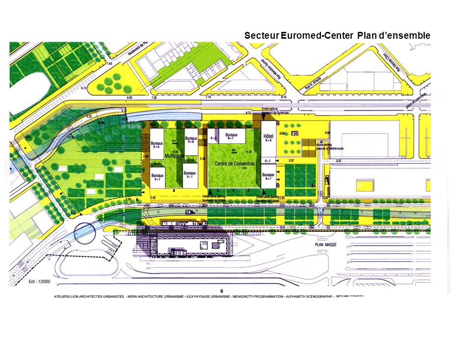 Secteur Euromed-Center Plan d'ensemble