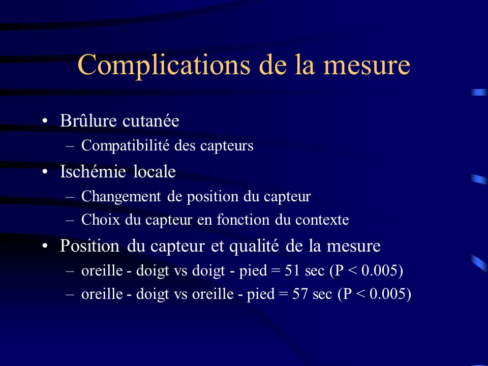 Complications de la mesure