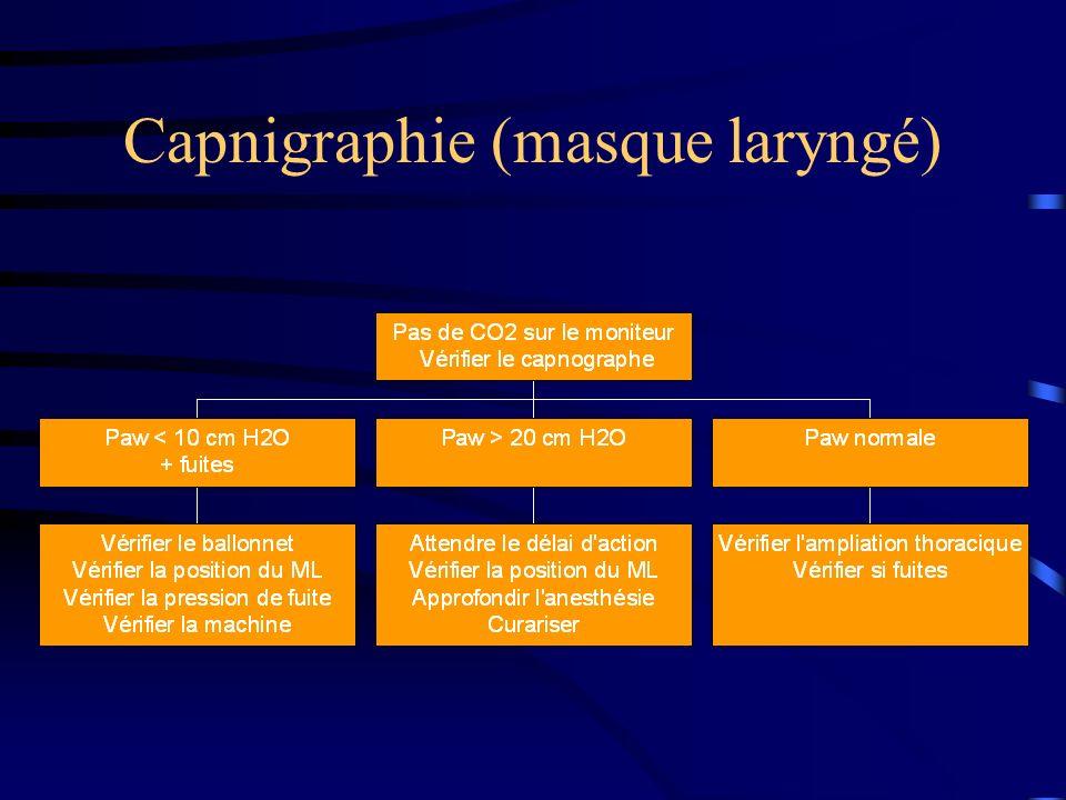 Capnigraphie (masque laryngé)