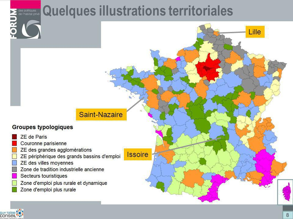 Quelques illustrations territoriales