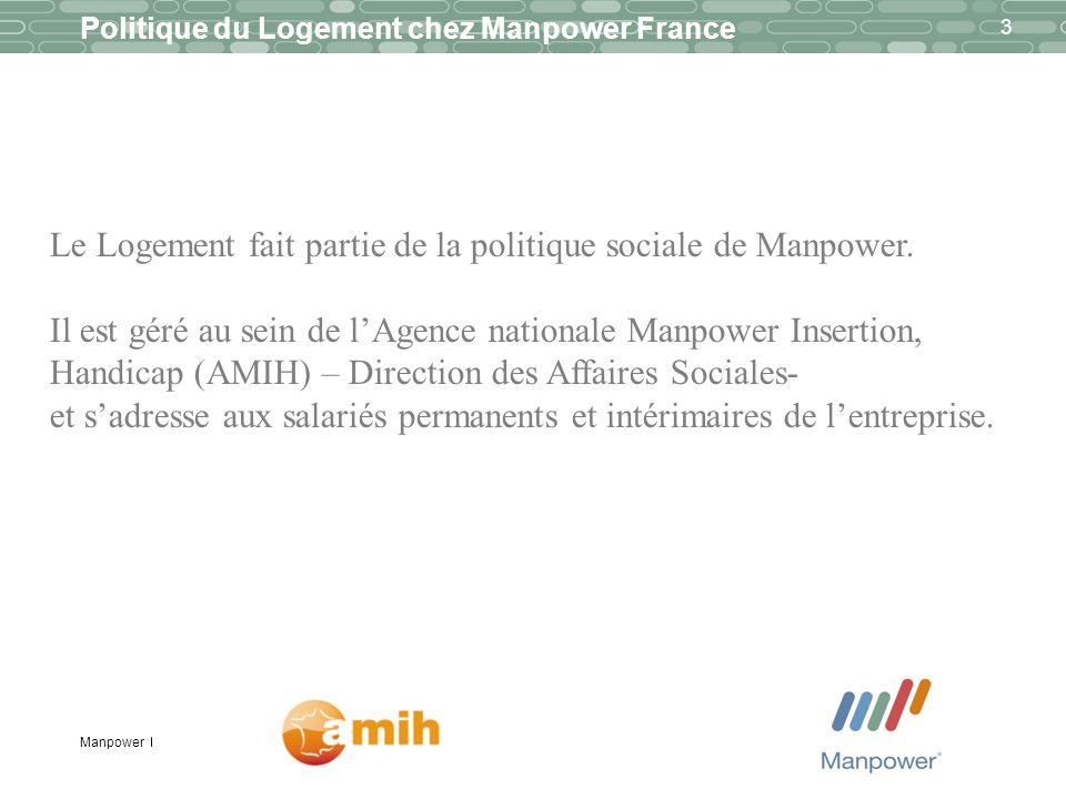 Le Logement fait partie de la politique sociale de Manpower.