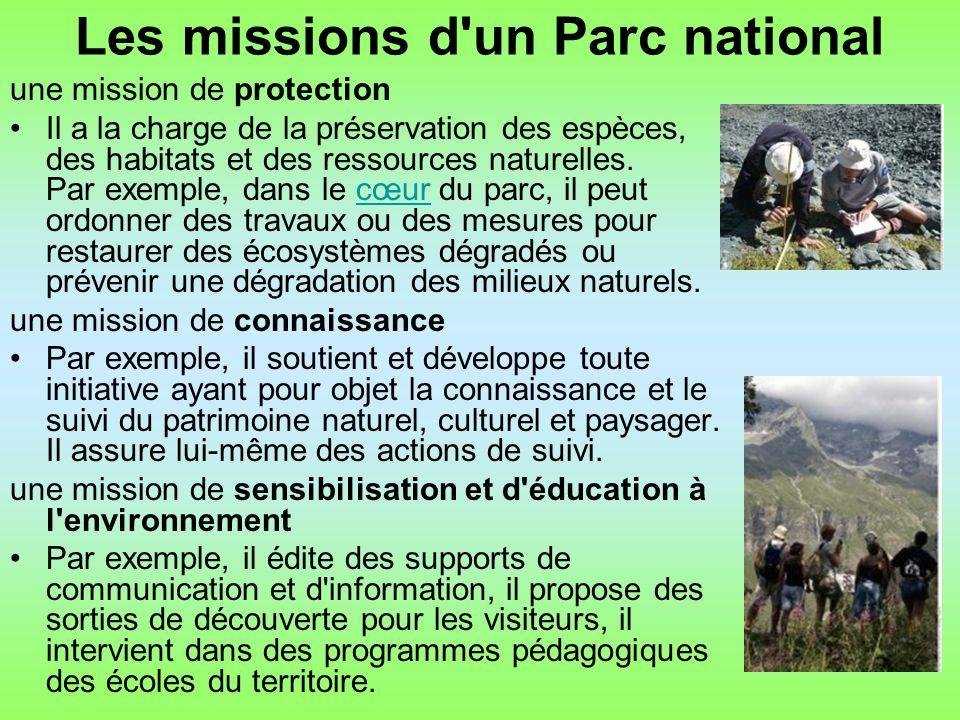 Les missions d un Parc national