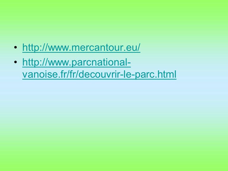 http://www.mercantour.eu/ http://www.parcnational-vanoise.fr/fr/decouvrir-le-parc.html