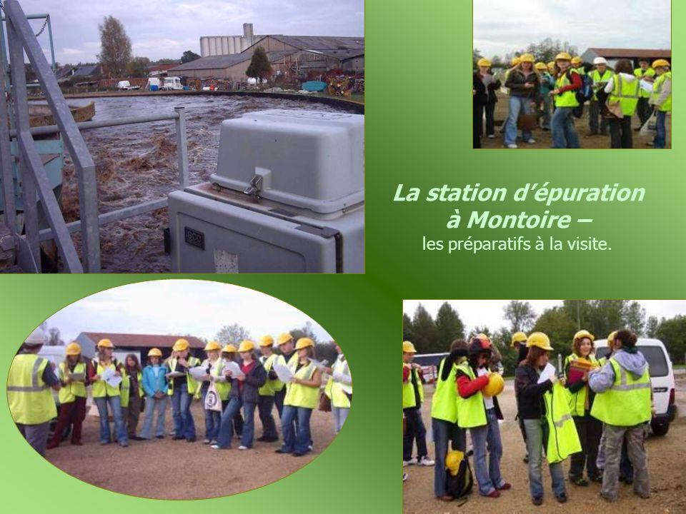 La station d'épuration à Montoire – les préparatifs à la visite.