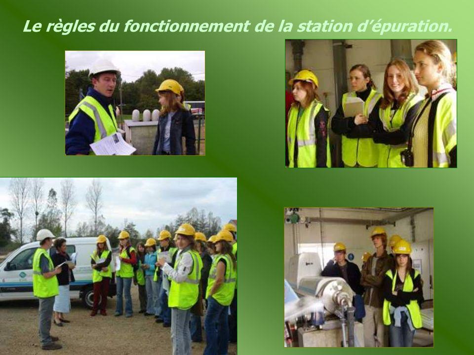 Le règles du fonctionnement de la station d'épuration.