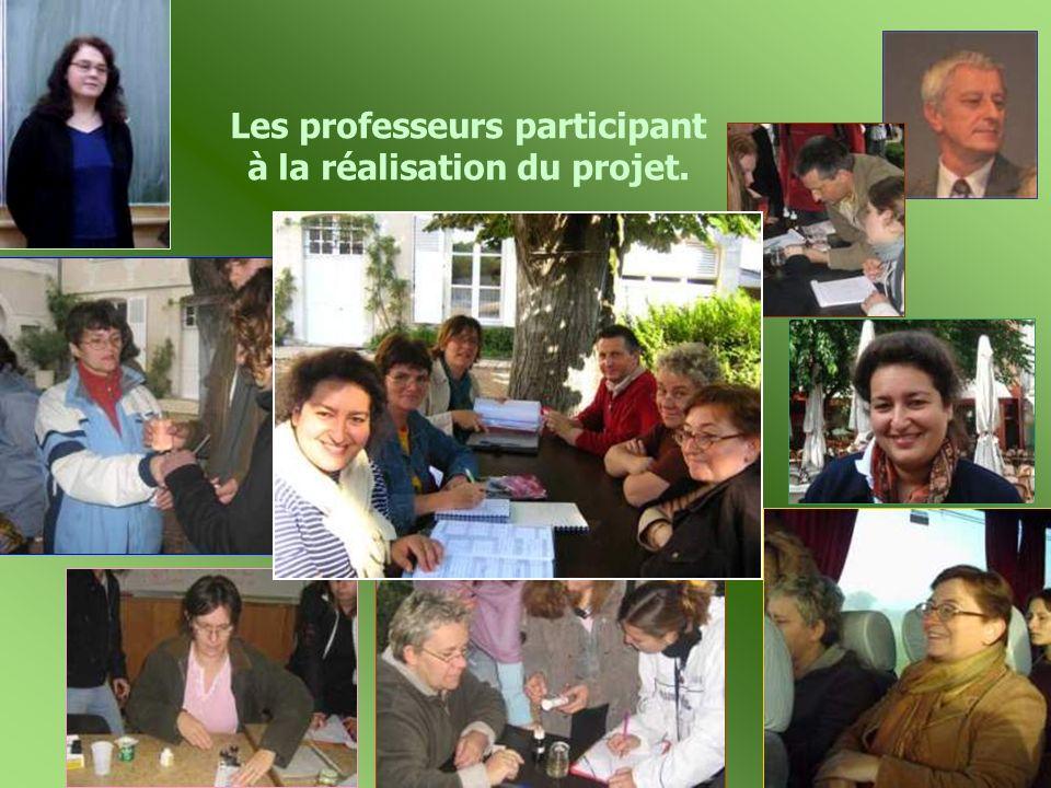 Les professeurs participant à la réalisation du projet.