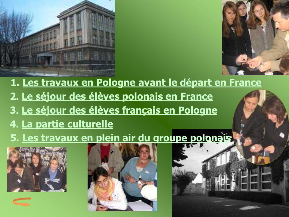 2. Le séjour des élèves polonais en France