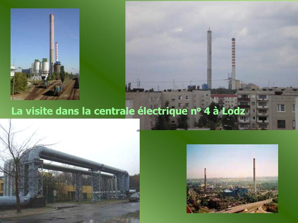 La visite dans la centrale électrique no 4 à Lodz