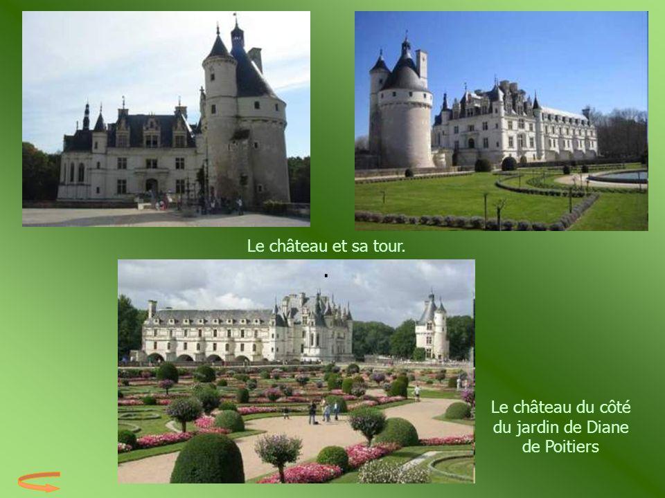 Le château du côté du jardin de Diane de Poitiers