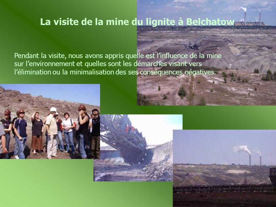 La visite de la mine du lignite à Belchatow