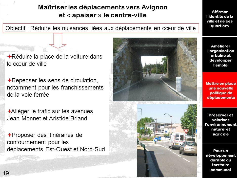 Maîtriser les déplacements vers Avignon et « apaiser » le centre-ville