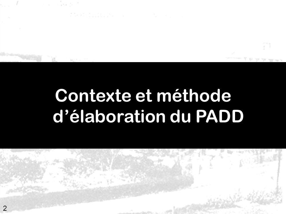 Contexte et méthode d'élaboration du PADD