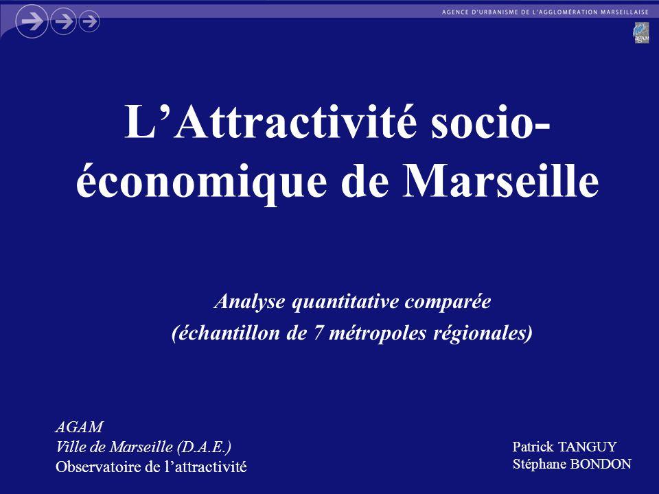 L'Attractivité socio-économique de Marseille