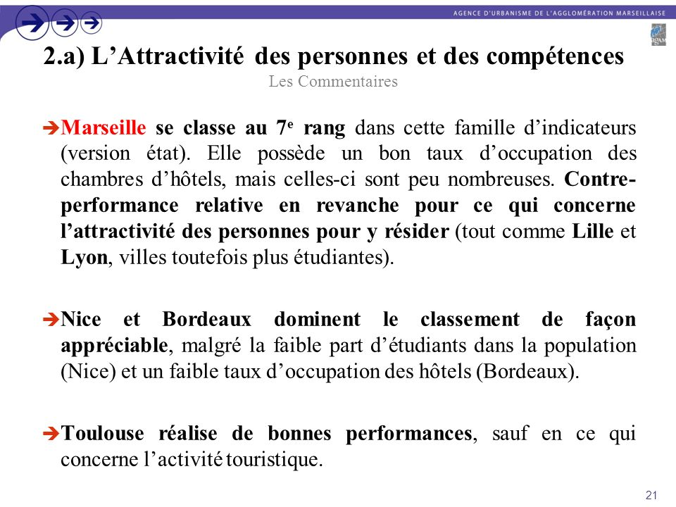 2.a) L'Attractivité des personnes et des compétences Les Commentaires