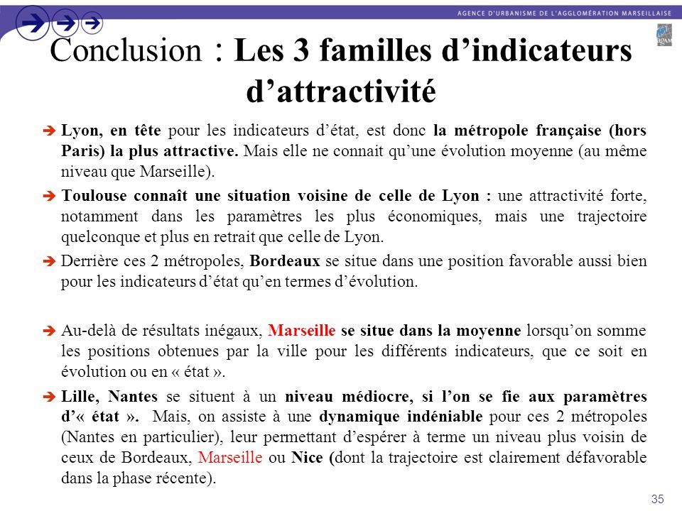 Conclusion : Les 3 familles d'indicateurs d'attractivité