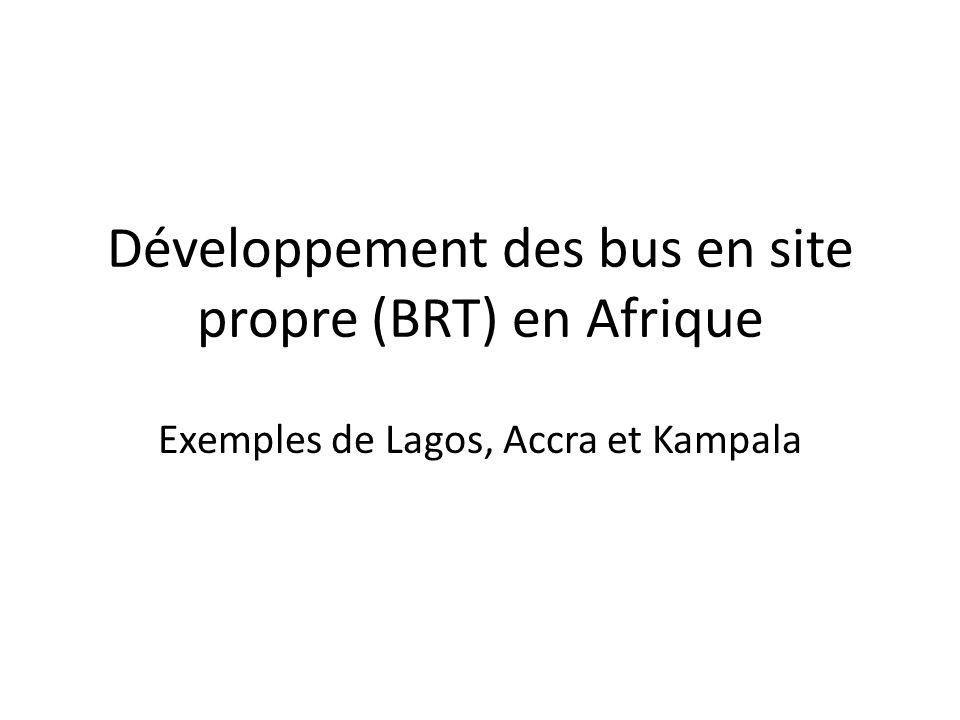 Développement des bus en site propre (BRT) en Afrique