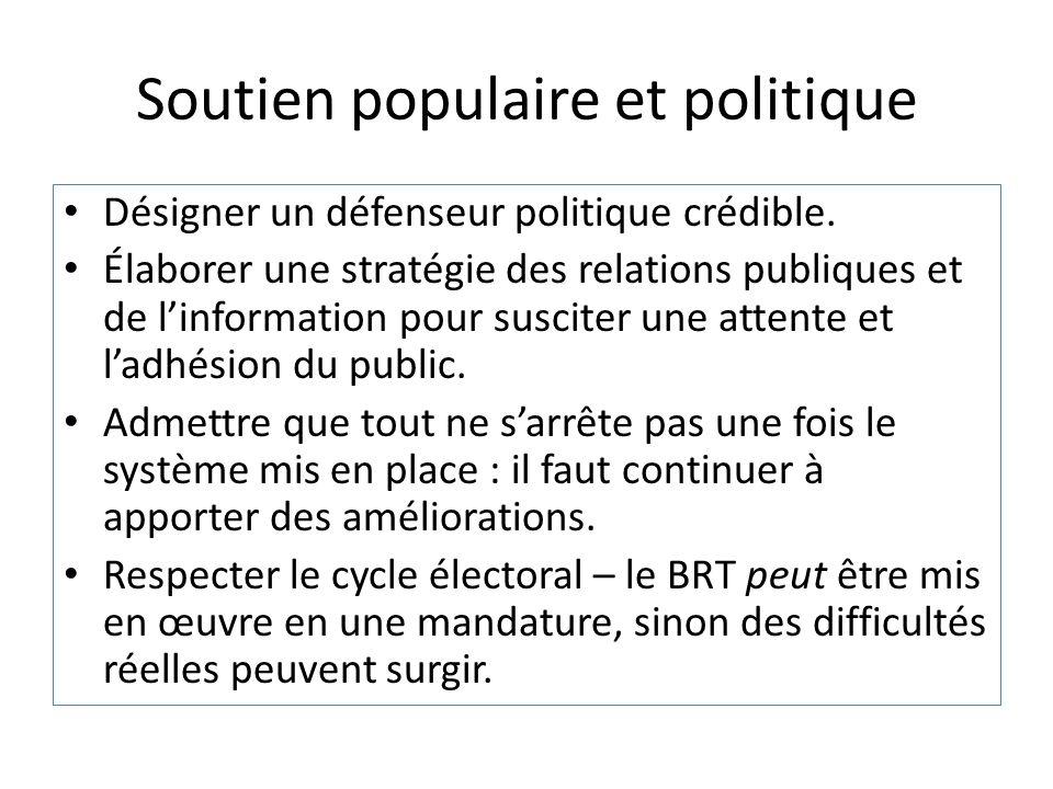 Soutien populaire et politique
