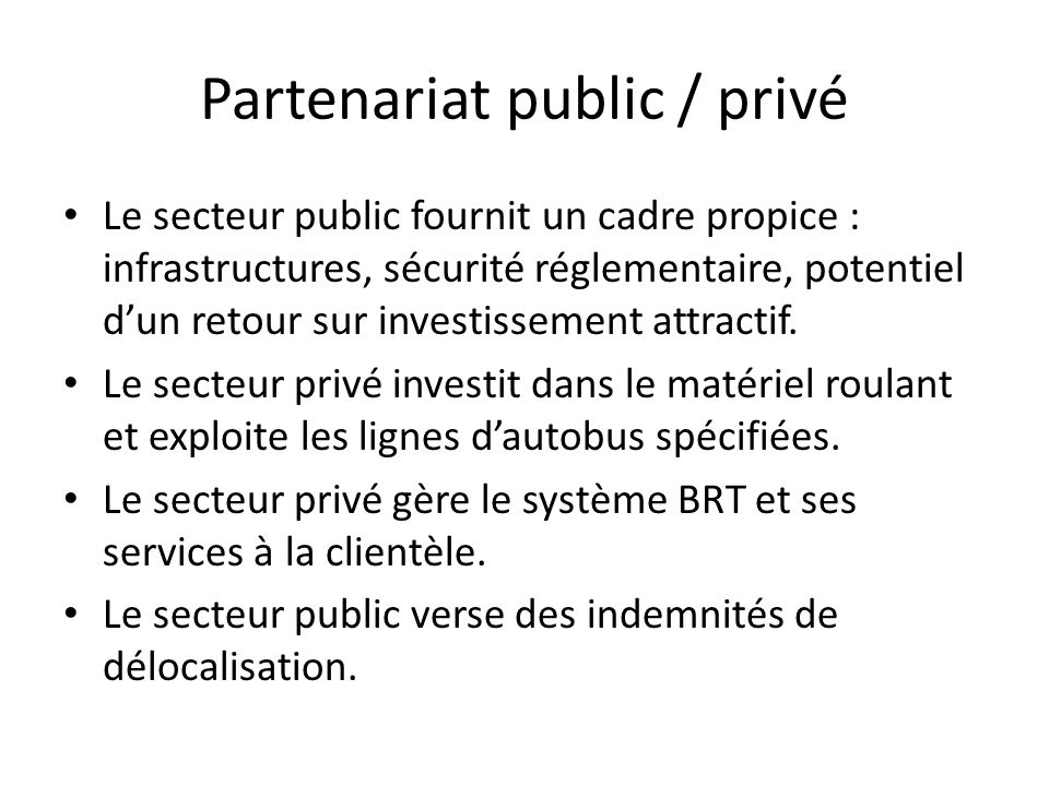 Partenariat public / privé